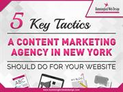 Five Key Tactics a Content Marketing Agency Should Do For Your Website