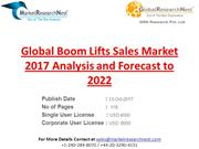 Global Boom Lifts Sales Market 2017 Analysis and Forecast to 2022