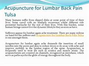 Acupuncture for Lumbar Back Pain Tulsa