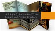 10 Things to remember when designing a printed brochure