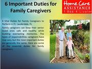 6 Important Duties for Family Caregivers