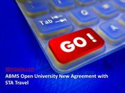 ABMS Open University New Agreement with STA Travel
