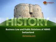 Business Law and Public Relations of ABMS Switzerland