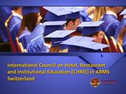 International Council on Hotel, Restaurant and Institutional Education