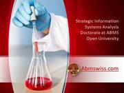Strategic Information Systems Analysis Doctorate at ABMS Open Universi