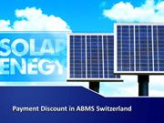 Payment Discount in ABMS Switzerland