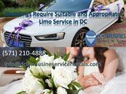 Weddings Require Suitable and Appropriate Limo Service in DC