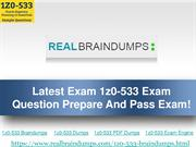 Latest Exam 1z0-533 Exam Question Prepare And Pass Exam!