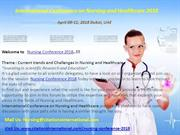 Nursing Conferences 2018 | Nursing meetings 2018| Nursing events 2018