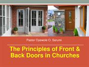 The Principles of Front & Back Doors in Your Church