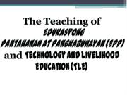 Teaching of EPP and TLE (Principle of Teaching2)