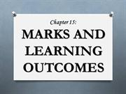 Marks and Learning Outcomes
