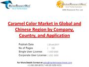 Caramel Color Market in Global and Chinese Region by Company, Country,