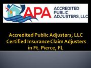 Accredited Public Adjusters, LLC - Certified Insurance Claim Adjusters