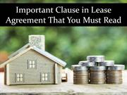 Important Clause in Lease Agreement That You Must Read