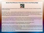 Access Fund Releases Video About How to Use Restop Bags