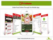 Order Food Online through our mobile app