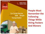 People Must Remember the Following Things While Hiring Packers And Mov