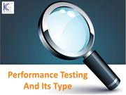 Performance Testing And Its Type | Benefits Of Performance Testing