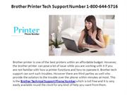Brother Printer Support Number 1-800-644-5716