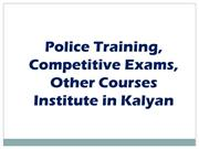 Police training,competitive exam & other training instituite