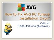Contact 1-800431454 to Fix AVG PC Tuneup Installation Error