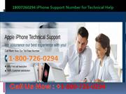 18007260294 iPhone Support Number for Technical Help