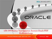 1Z0-599 Practice Test Question Answers Oracle PDF Realbraindumps