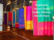 Traditional Sarees Every Indian Women Should Have