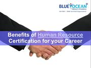 Benefits of Human Resource Certification for your Career
