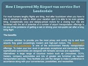 How I Improved My Airport van service Fort Lauderdale