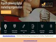 AerateSolutions - Online Marketing Company in India, Hyderabad