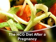 The HCG Diet After a Pregnancy