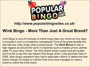Wink Bingo - More Than Just A Great Brand