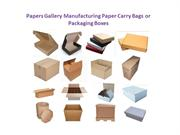Paper Carry Bags and Packaging Boxes