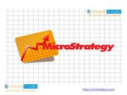 Microstrategy  online training| Enroll for free demo