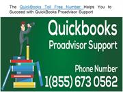 The QuickBooks  Toll Free Number Helps  QuickBooks Proadvisor Support