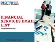 Financial Services Email List