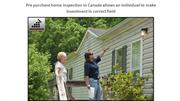 pre purchase home inspection in Canada