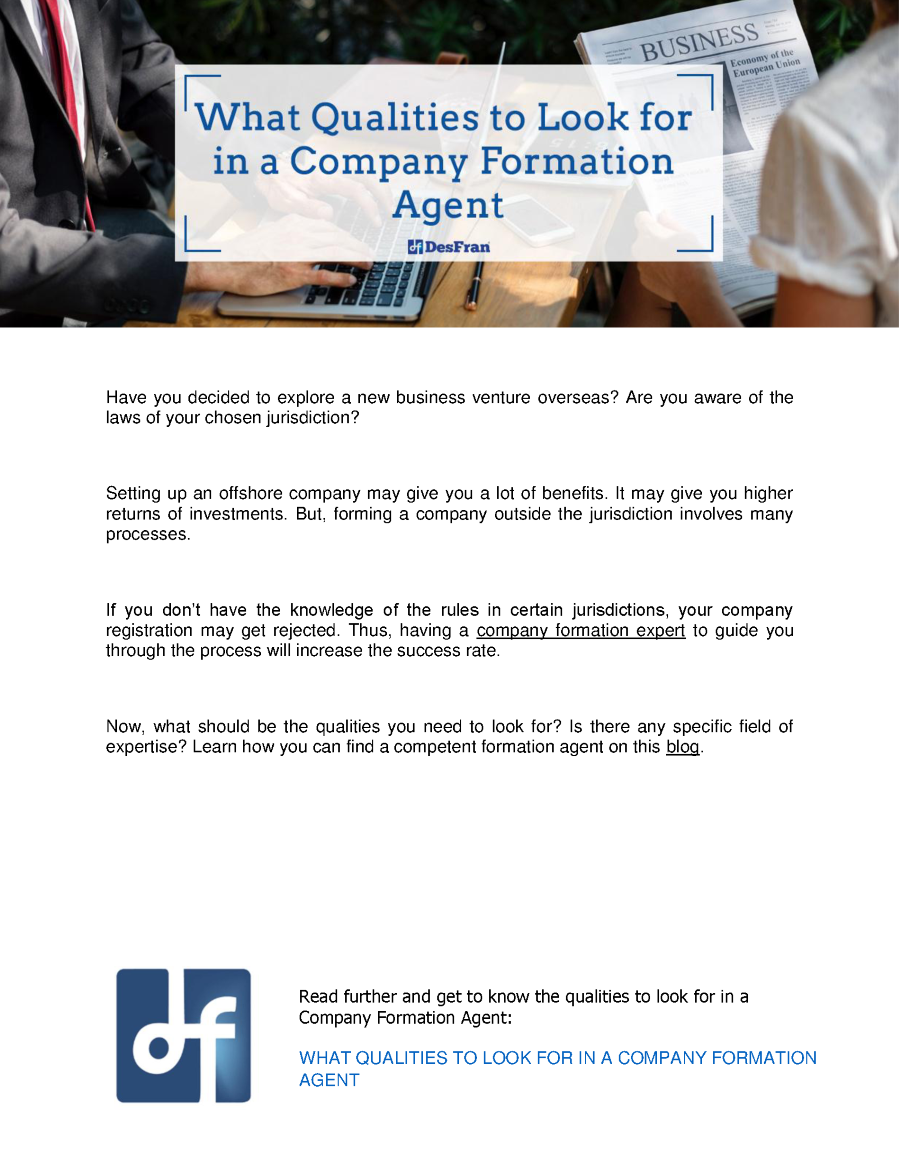 What qualities should the head of the company have