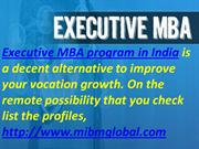 Executive MBA programme in India is a decent alternative to improve