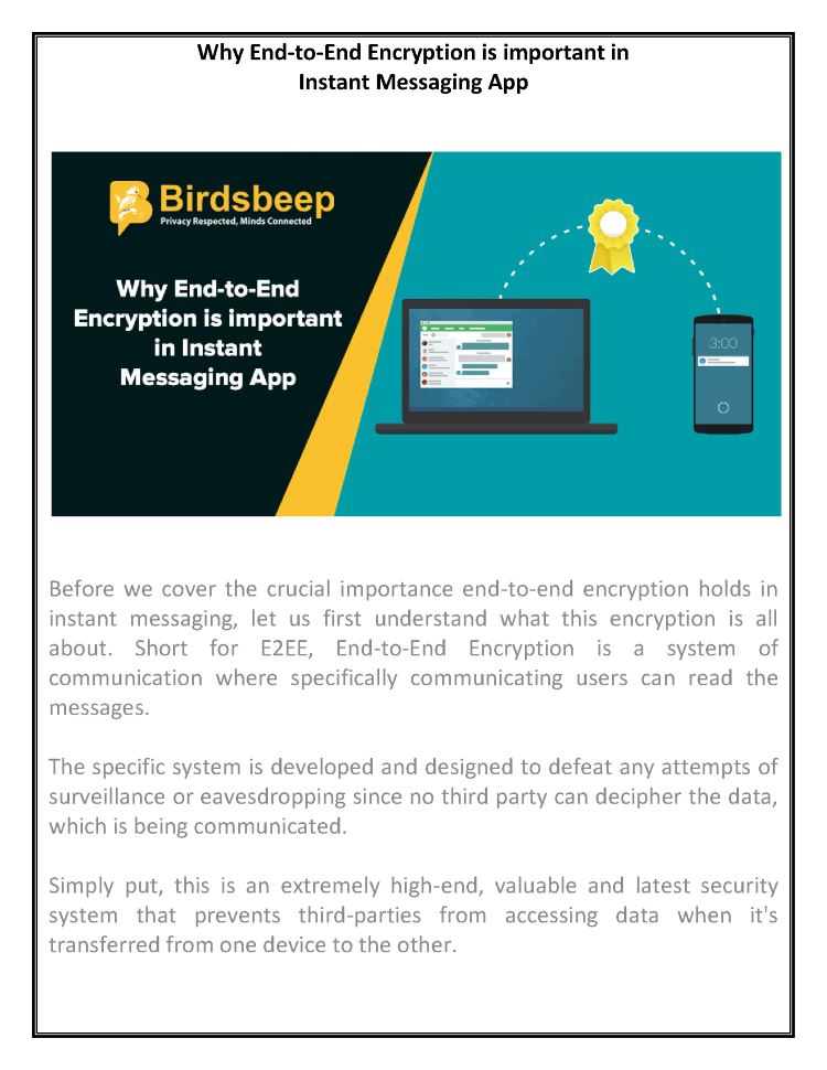 Why End-To-End Encryption is Important in Instant Messaging