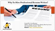 Why To Hire Professional Resume Writer?