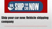 Get the ultimate vehicle transport protection by ship your car now