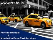 Find the best pune to mumbai and mumbai to pune taxi services