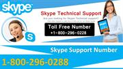 Skype Support Number 1-800-296-0288  for Skype Not Working