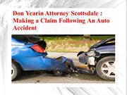 Don Yearin Attorney Scottsdale - Making a Claim Following An Auto Acci