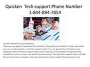 Quicken Technical support Phone Number 1-844-894-7054