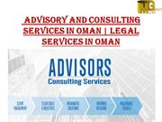 Advisory and Consulting Services in Oman | Legal Services in Oman