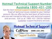 Hotmail Technical Support Number Australia- 1800-431-295